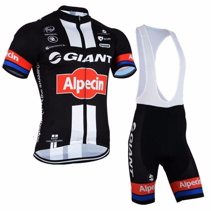b4627f0b0 2017 Team Alpecin Giant Pro Cycling Jerseys Black Red ...