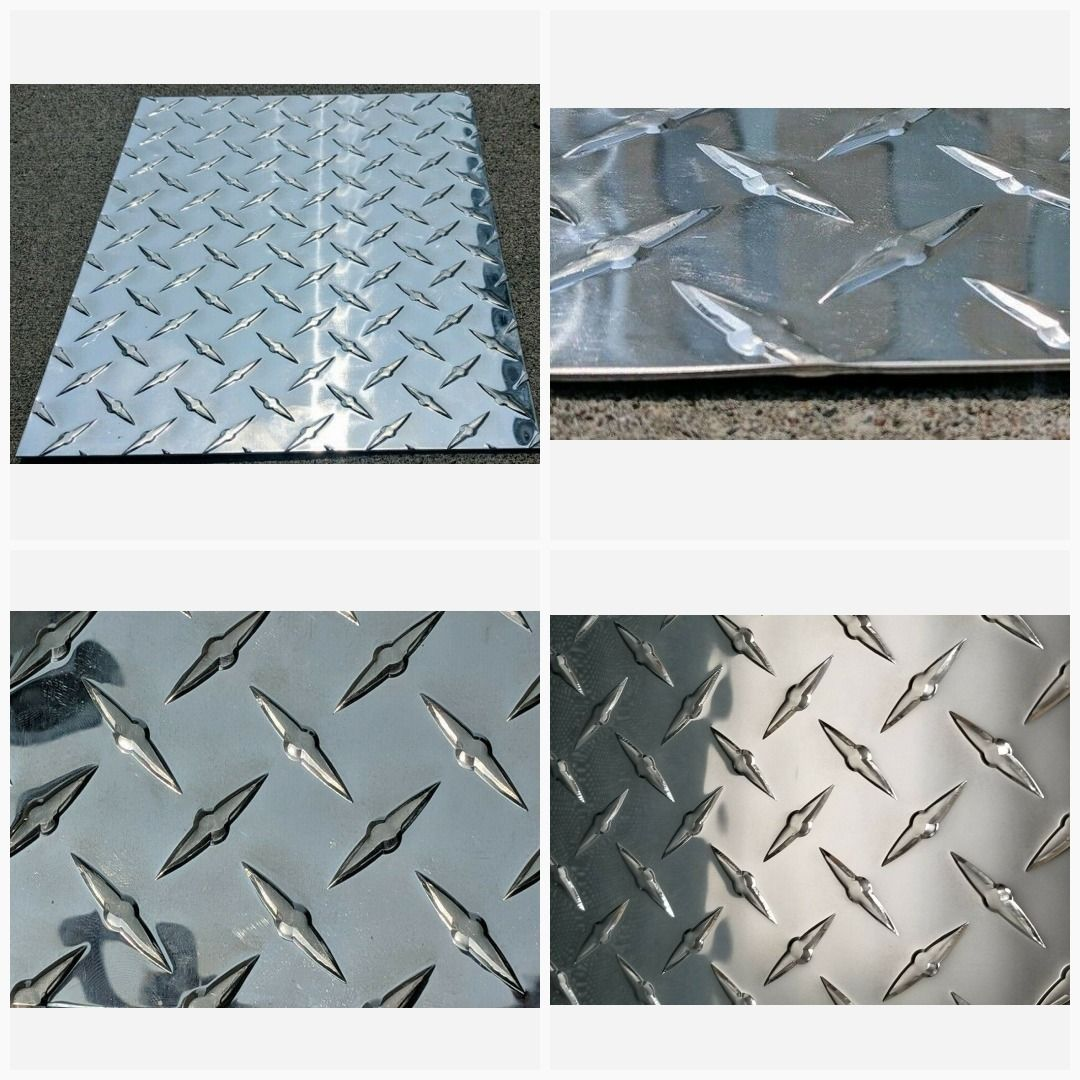 Aluminum Diamond Tread Plate Sheet 045 24 X 48 Checker Plate Durbar Floor Plate In 2020 Diamond Plate Aluminum Plates