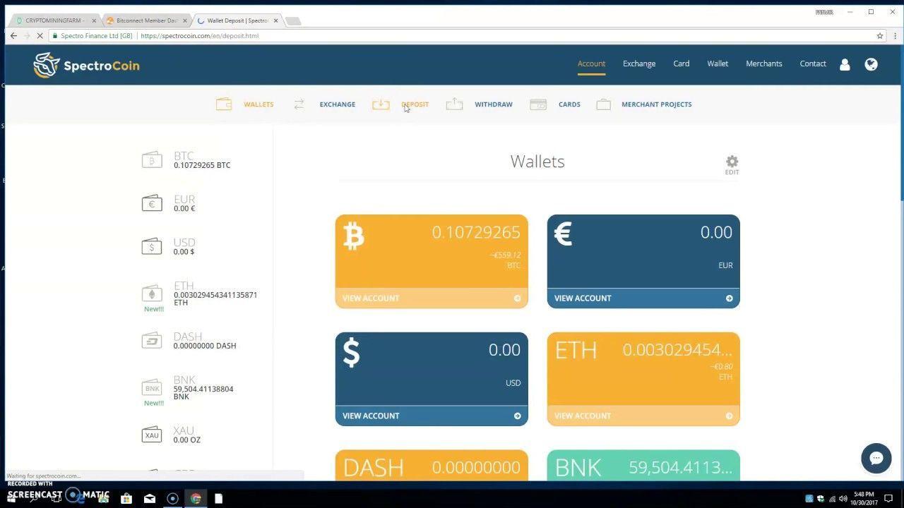 Withdraw Bitcoin From BitConnect and CRYPTOMININGFARM . I