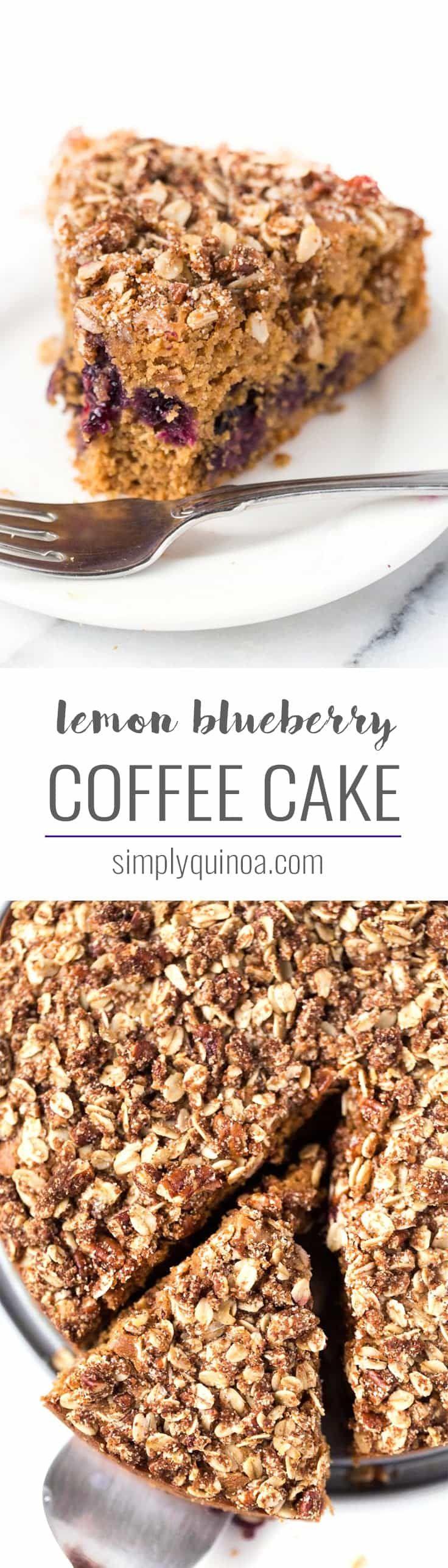 Lemon blueberry coffee cake recipe quinoa dessert