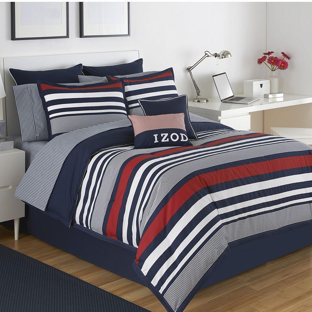 Intelligent Design Harper Reversible Comforter Set Blue Duvet
