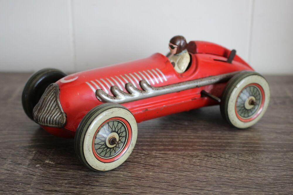 Antique Rare Wind Up Tin Litho Ingap Race Car Rodanfields Car Antiques Tin