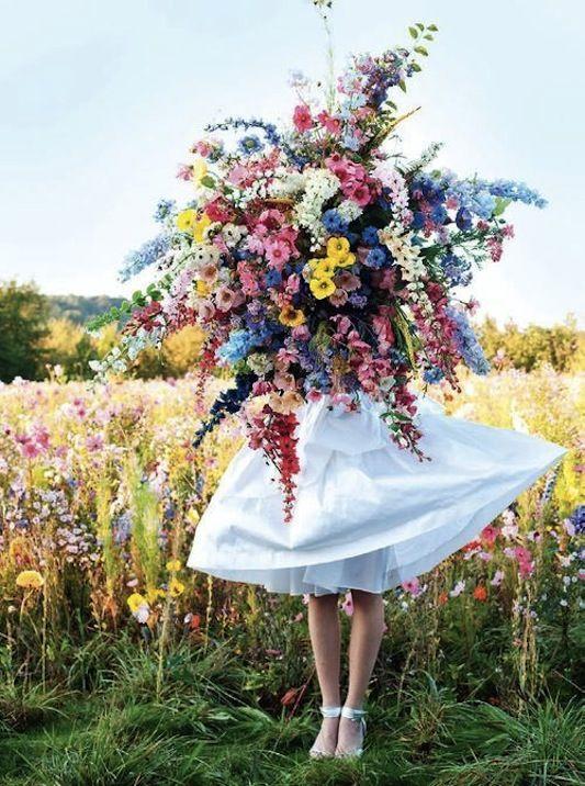 Большой букет из полевых цветов - лучшие фото 48