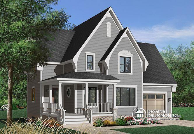 Maison champêtre, moderne rustique, 3 chambres, espace - liste materiaux construction maison