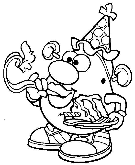 Mr Potato Head Colouring Pages From Kids Colour In Books Toy Story Coloring Pages Coloring Pages Mr Potato Head