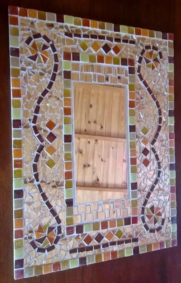 Trencadis espejo decorativo atenea mosaico mis for Espejos finos decorativos