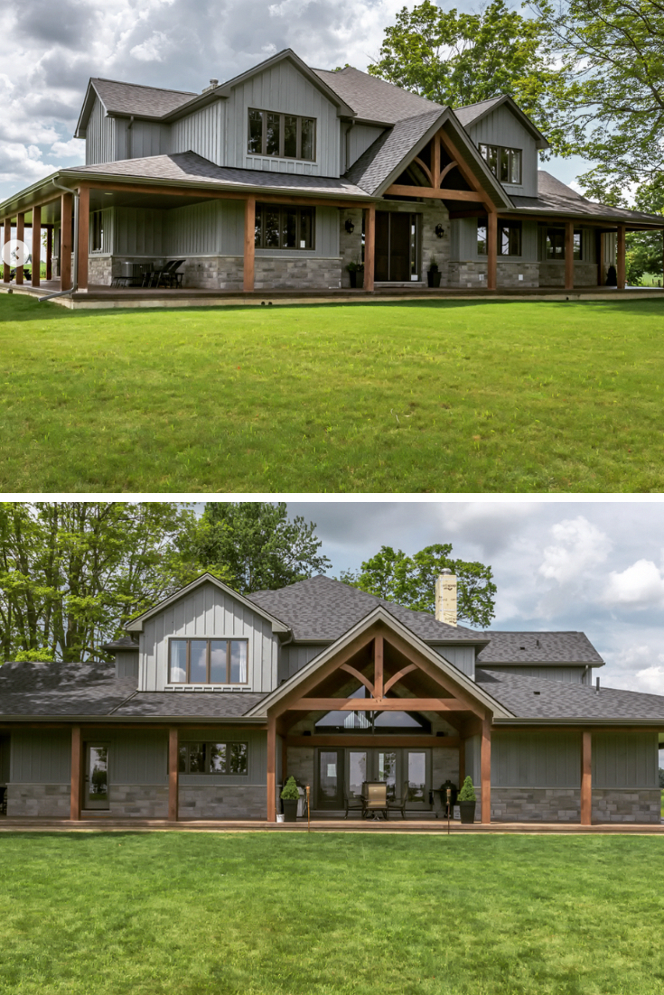 This Is Definitely One Of The Most Beautiful Metal Building Home It Has Huge Porch And Very Trendy G Metal Building Homes Metal Building Home Barn House Plans