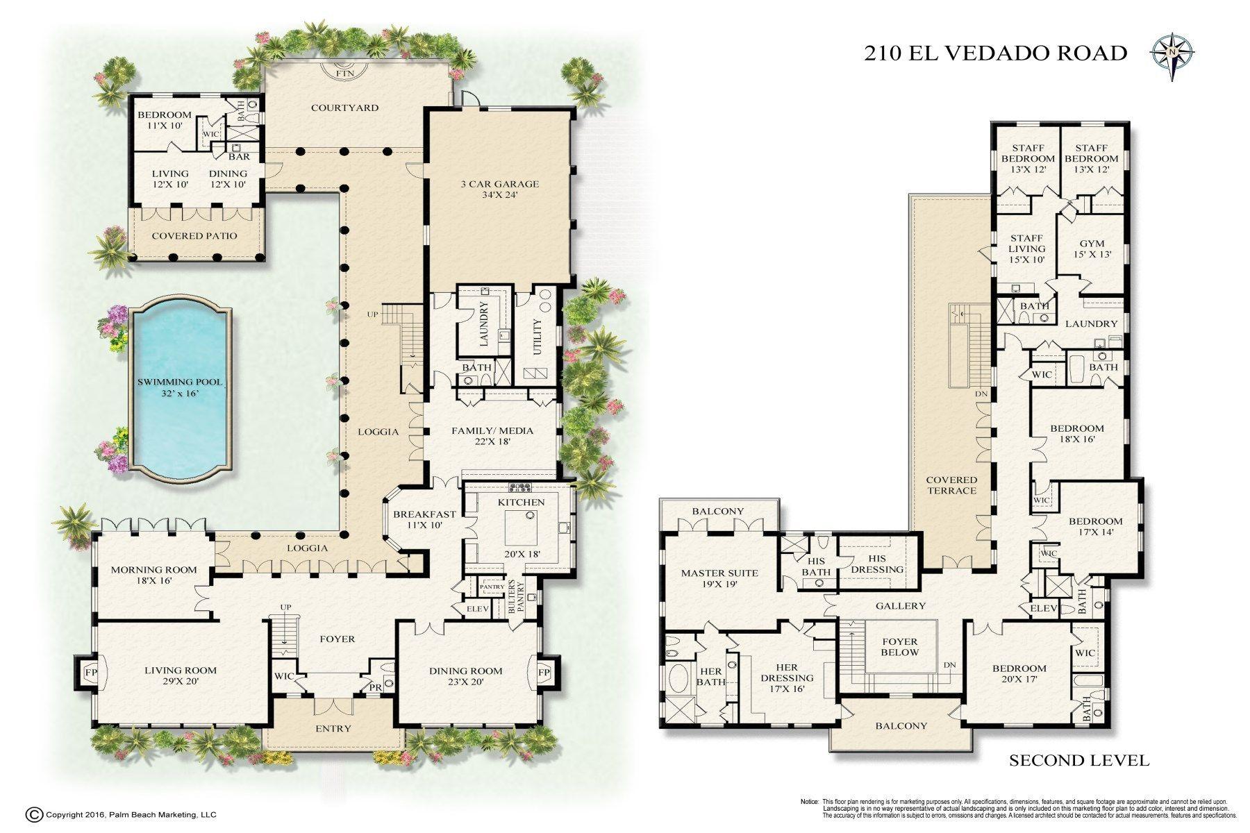 210 El Vedado Rd Palm Beach Fl Luxury House Plans Spanish Style Architecture House Plans