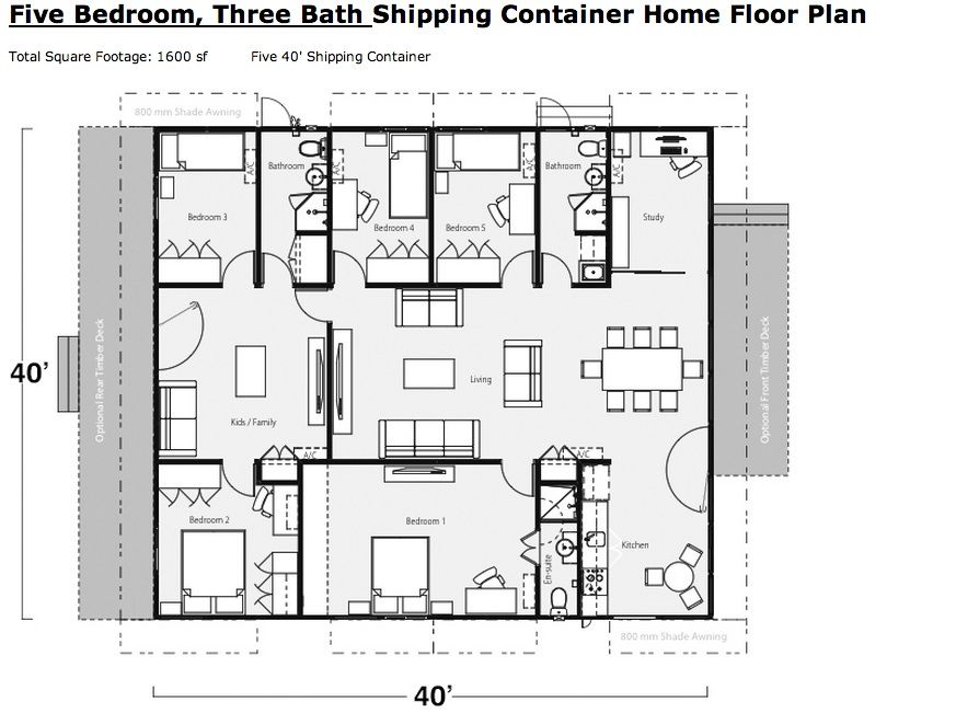 Example Of A Shipping Container Home Floor Plan