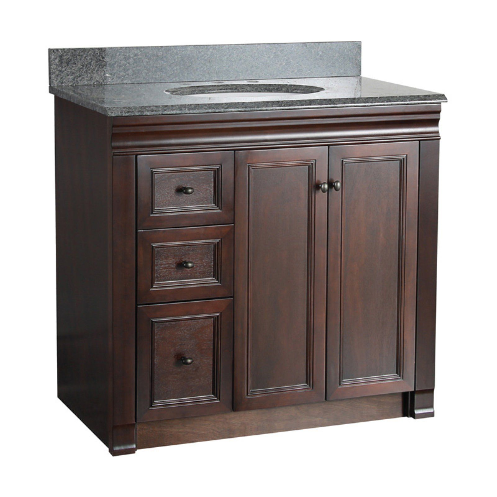 Foremost Shawna 36 In Single Bathroom Vanity With Right Side