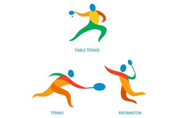 Table Tennis Badminton Icon Table Tennis Badminton Tennis