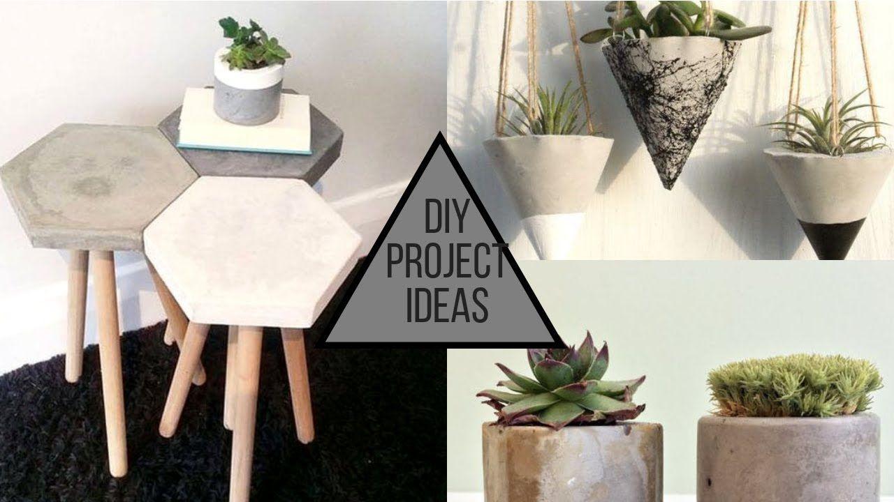 2019 Cool Cement Diy Projects Ideas Youtube Diy Home Decor Diy Crafts Diy Clothes Diy Furniture Diy Wall Dec Cement Diy Diy Projects Hobbies Diy Projects