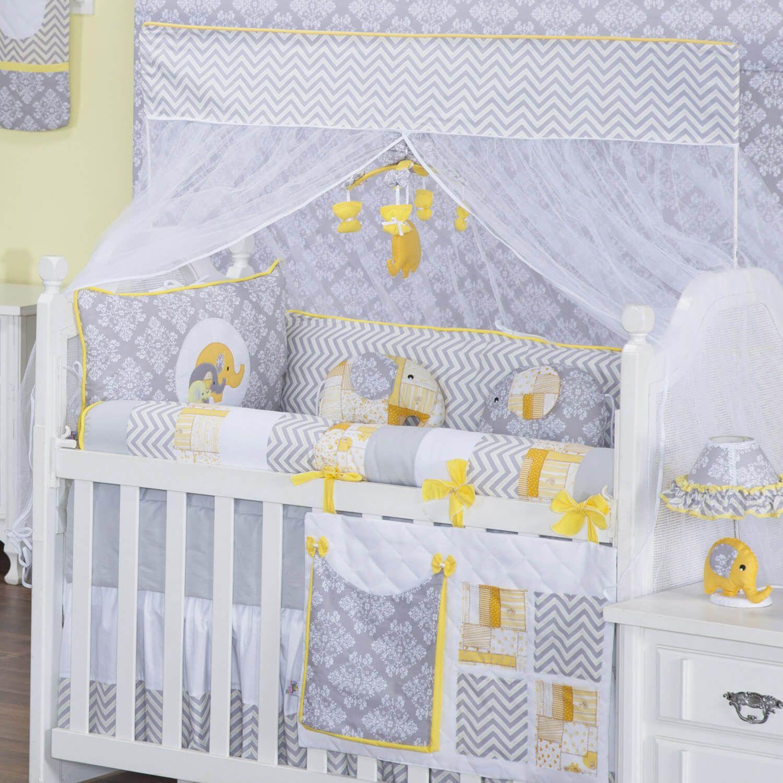 Kit Ber O Elefantinho Amarelo Quarto De Beb Amarelo Pinterest  ~ Tapete Croche Quarto Infantil E Quarto De Bebe Com Dossel