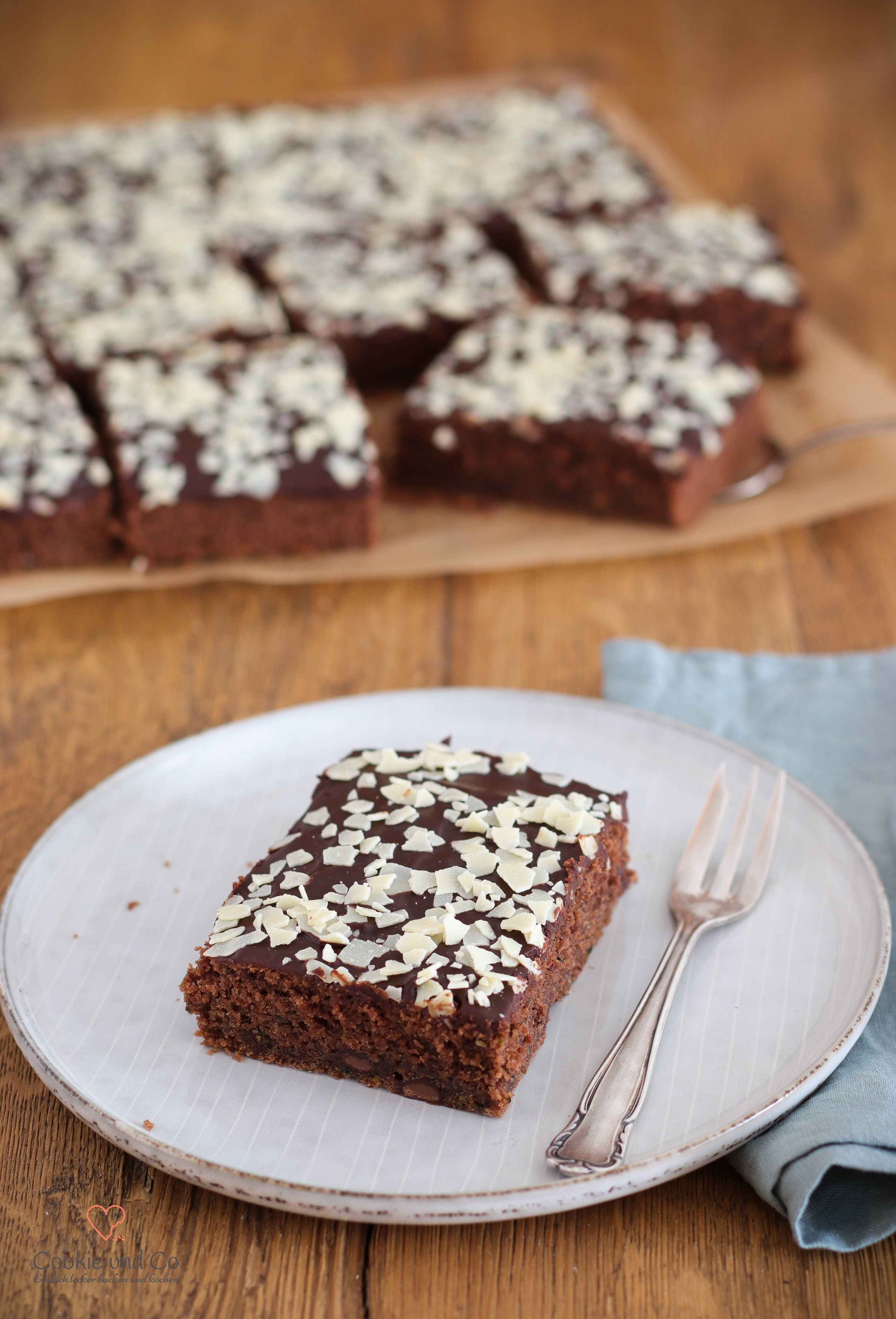 Zucchini Kuchen Schokoladig Saftig Blogger Backrezepte