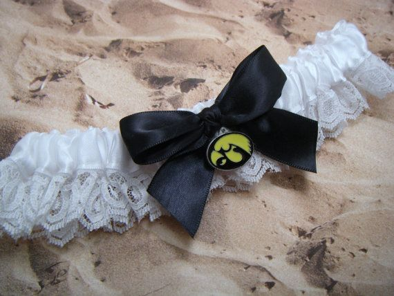 Iowa Hawkeyes wedding garter