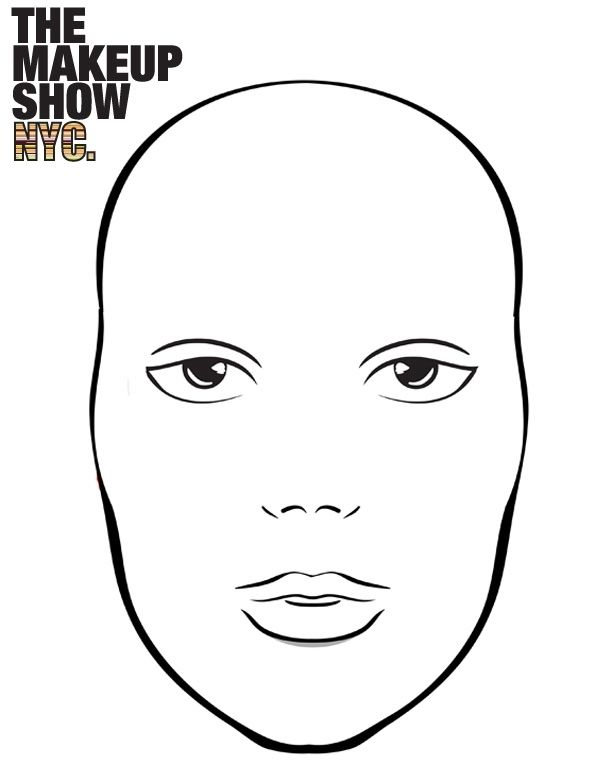 Makeup Face Coloring Pages To Print Fun For Kids Makeup Face Charts Face Chart Face Template