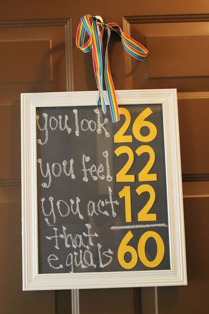 54ce09970d1 Birthday Math Sign for 60th Birthday...you could do with any number