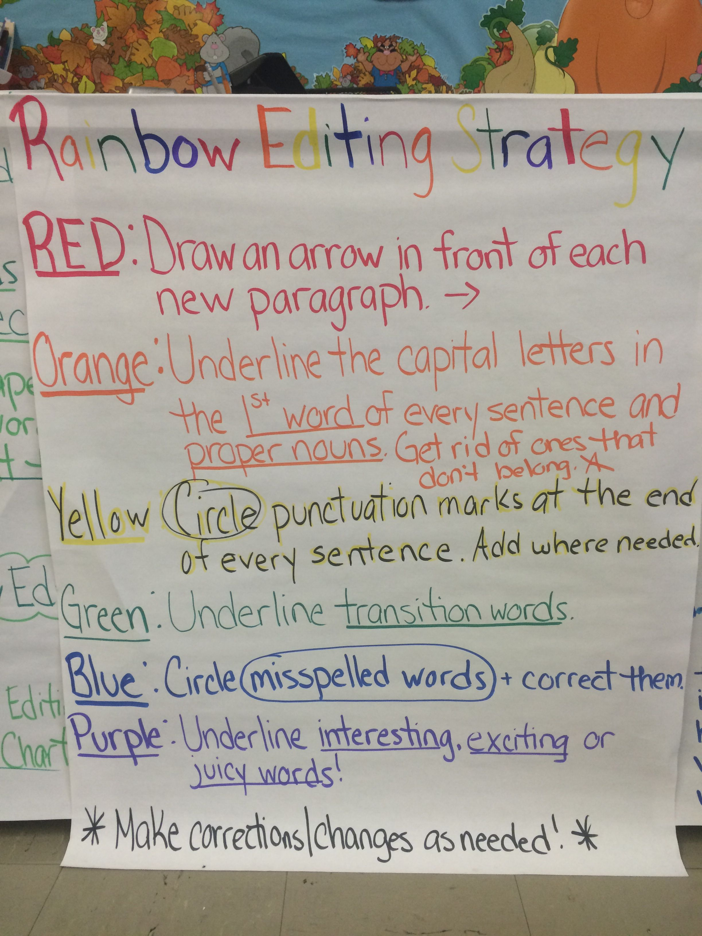 hight resolution of Rainbow Editing! Writers Workshop
