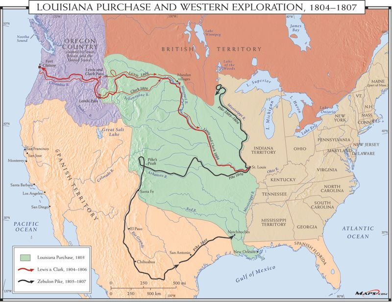 Louisiana Purchase map | Louisiana purchase, Wall maps, Map