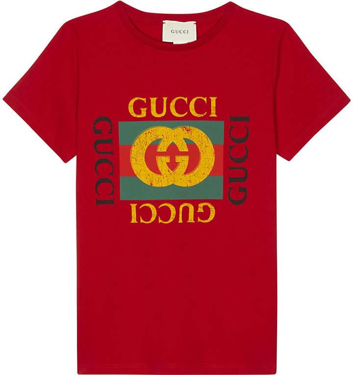 e4b51bd71130 GUCCI 'GG' logo cotton T-shirt   Products   Shirts, Tall men fashion ...