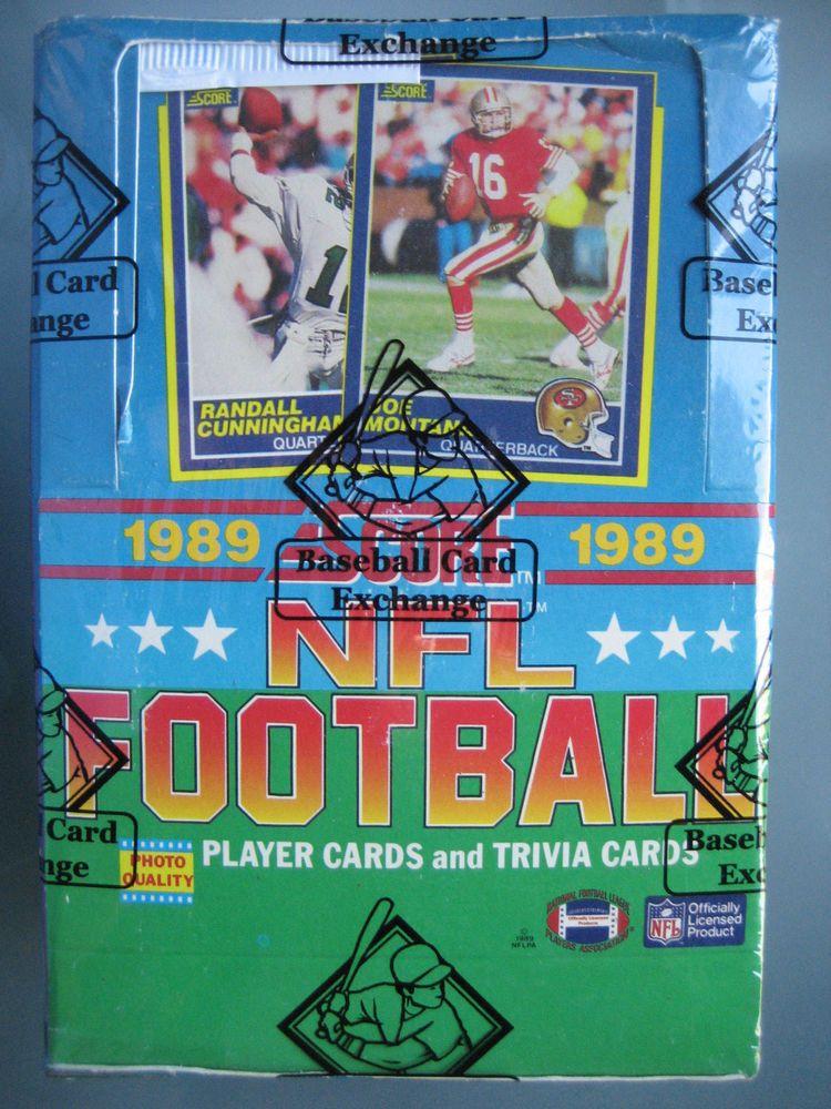 1989 score football unopened wax box bbce barry sanders