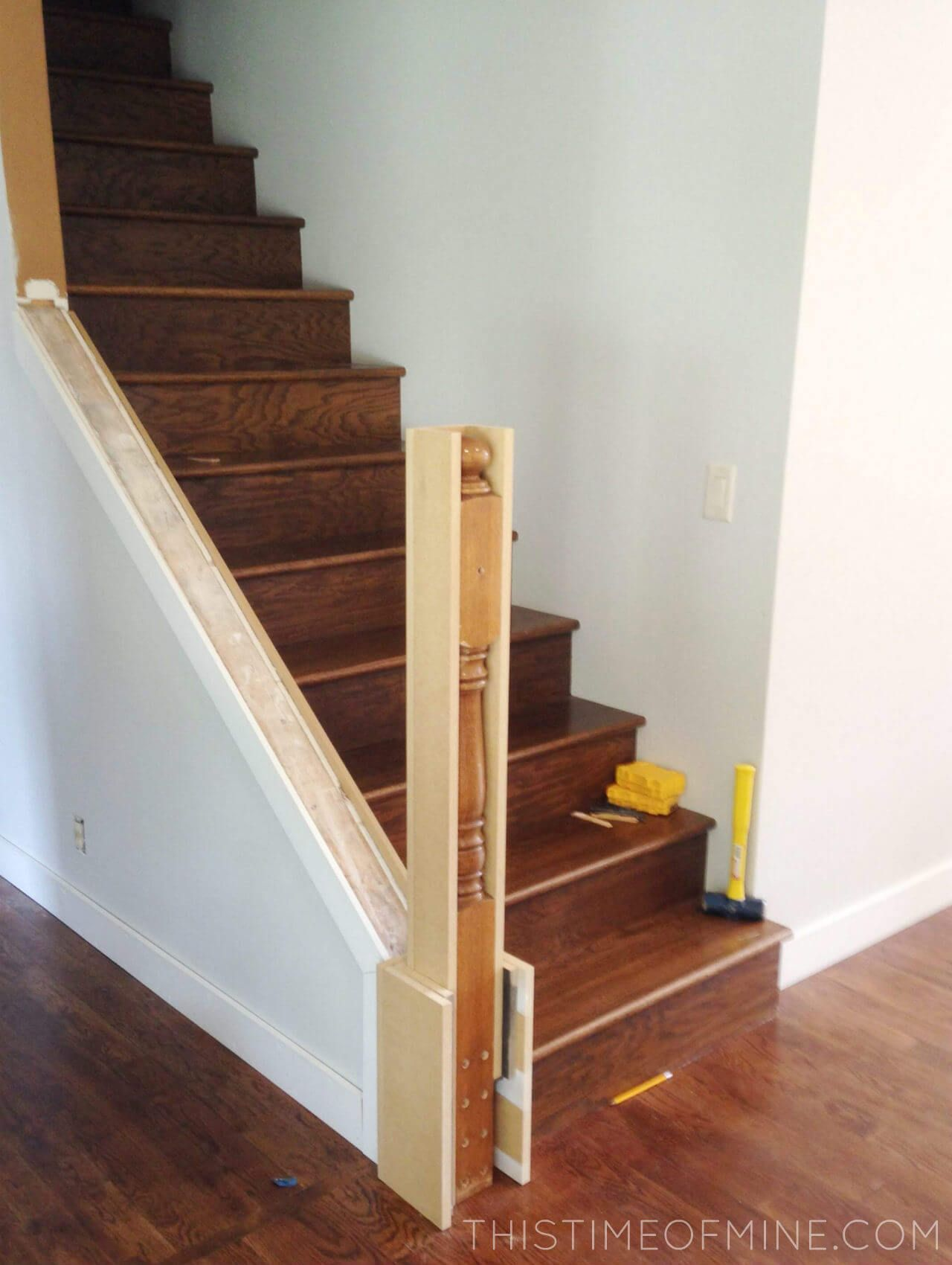 A DIY Stair Makeover: Tutorial And Tips | This Time of Mine