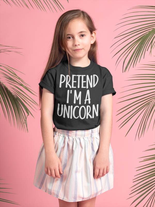 Fun Halloween Gifts Idea for kids - Pretend I'm Unicorn T-Shirt. Amp up collection of accessories: mug, decorations, scary face head mask, vampire ghost costume, tank top, outfits. This Tshirt - Amazing present for farmer, monster, youth, animals lover, kinder, son, gardener on Scary night party, Halloween Night. #mamp;mcostumediy