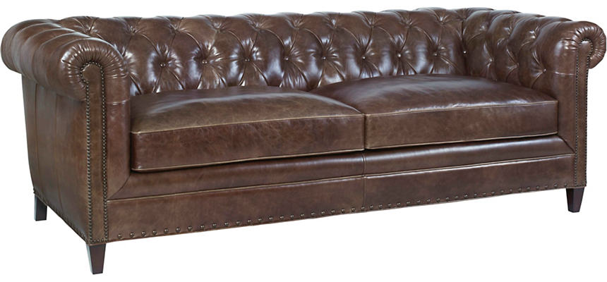 Best Beaumont Leather Chesterfield Sofa Art Van Home 640 x 480