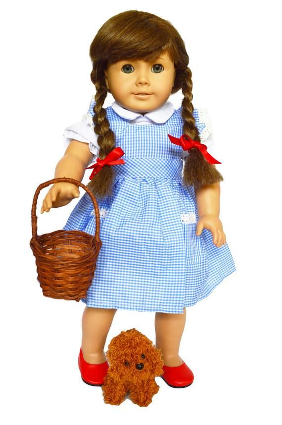 Dorothy Outfit with Accessories for American Girl Dolls | 18 Inch Doll Clothes | American Girl Doll Costumes | 18 Inch Doll Costumes #18inchdollsandclothes