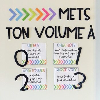 Mets Ton Volume A French Voice Level Chart Voice Level Charts Voice Levels Teaching