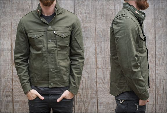 Levis Commuter Jacket Olive Green In 2019 Jackets Hooded