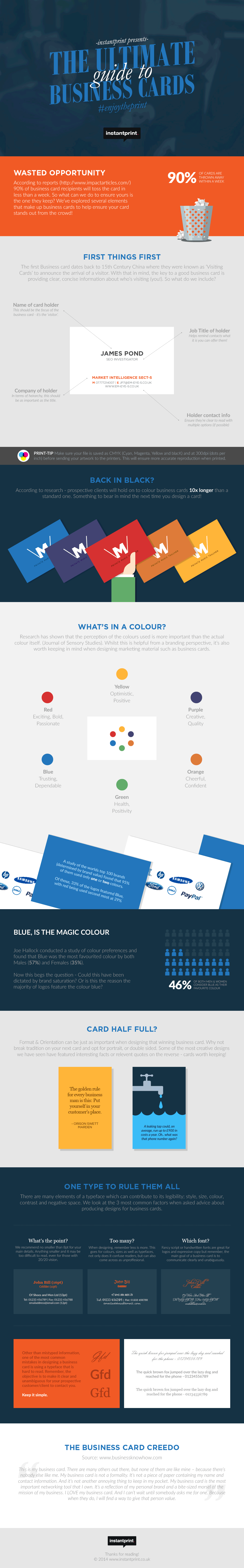 instantprint presents the ultimate guide to #businesscards ...