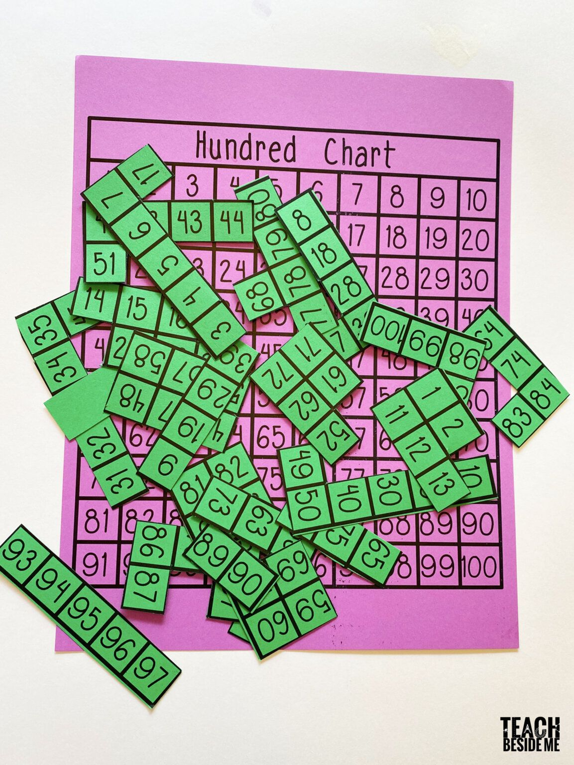 Hundred Chart Puzzle With Printable In