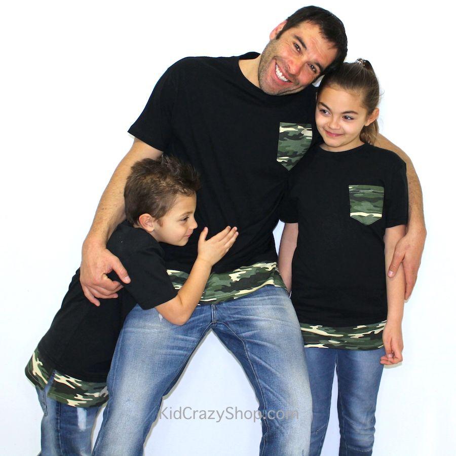 Camiseta unisex para niño a con detalles de camuflaje ¡también disponible  para hombre! Puedes encontrarlas en la sección