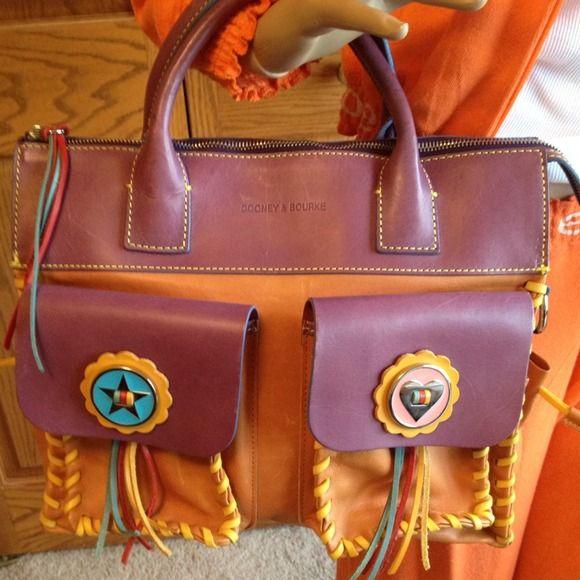 Vintage Leather Dooney Bourke Handbag Soft Supple Shows Of This Bag No Strap Discontinued Line If Interested Make Offer