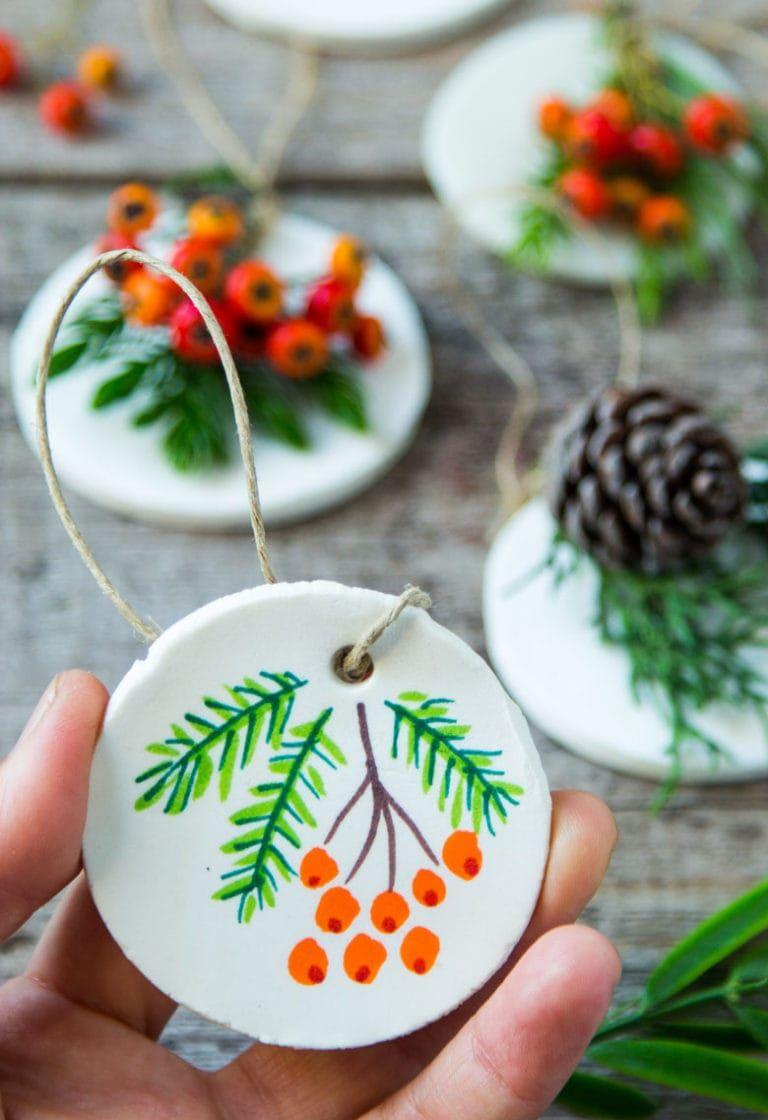 Homemade Salt Dough & Air Dry Clay Ornaments (3 Ways!) - A Piece Of Rainbow
