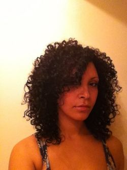 layered bouncy curls -  Medium hair styles, Long hair styles, Readers, Styles, Female, Curly hair, Black hair, Adult hair, Layered hairstyles, Natural Hair Celebration hairstyle picture
