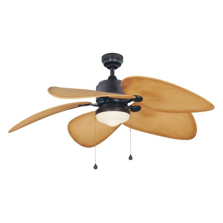 Shop Harbor Breeze 52 In Freeport Aged Bronze Outdoor Ceiling Fan With Light Kit At Lowes Com