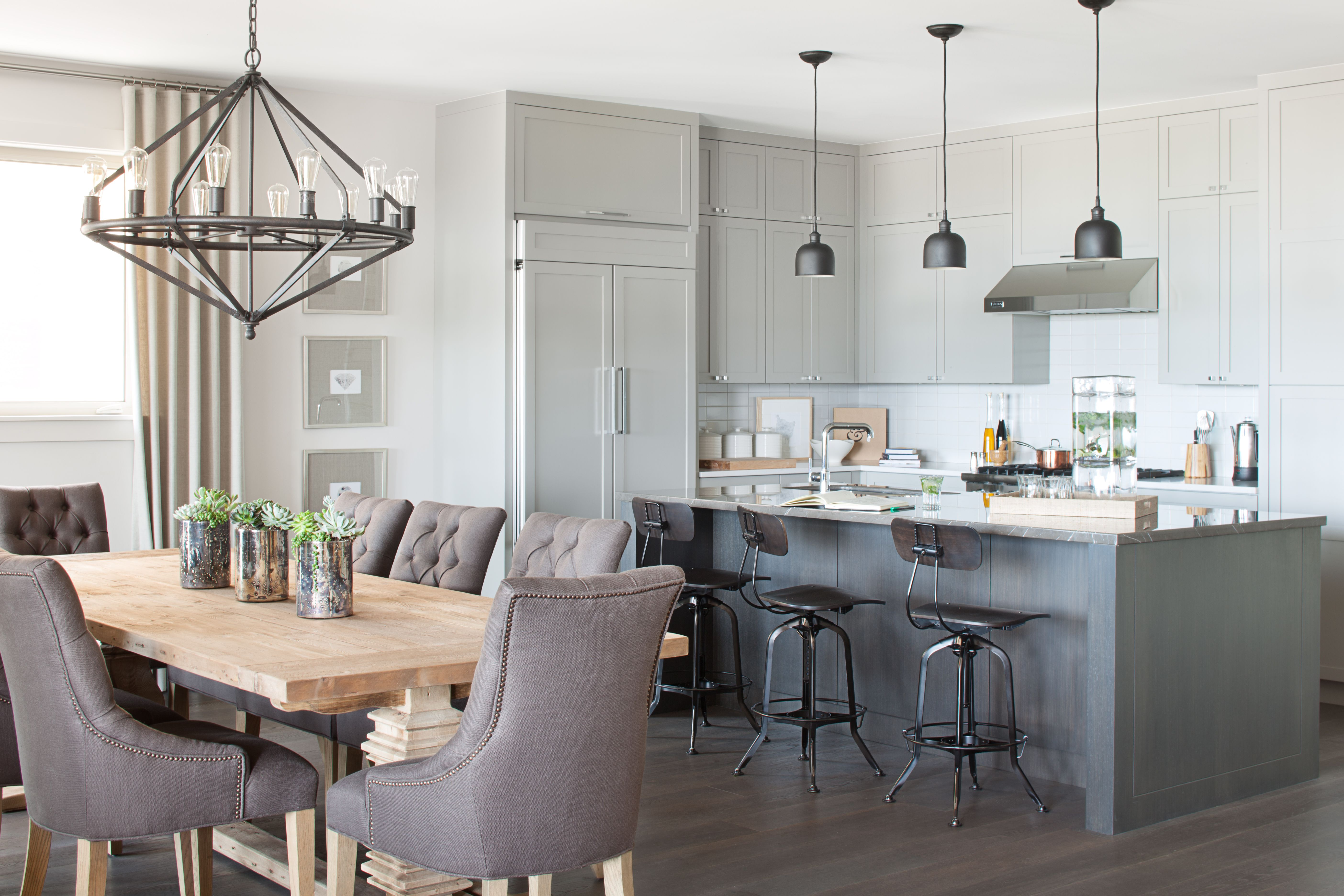 Best Modern Shaker Dining Room Light Fixtures Trestle Dining 400 x 300