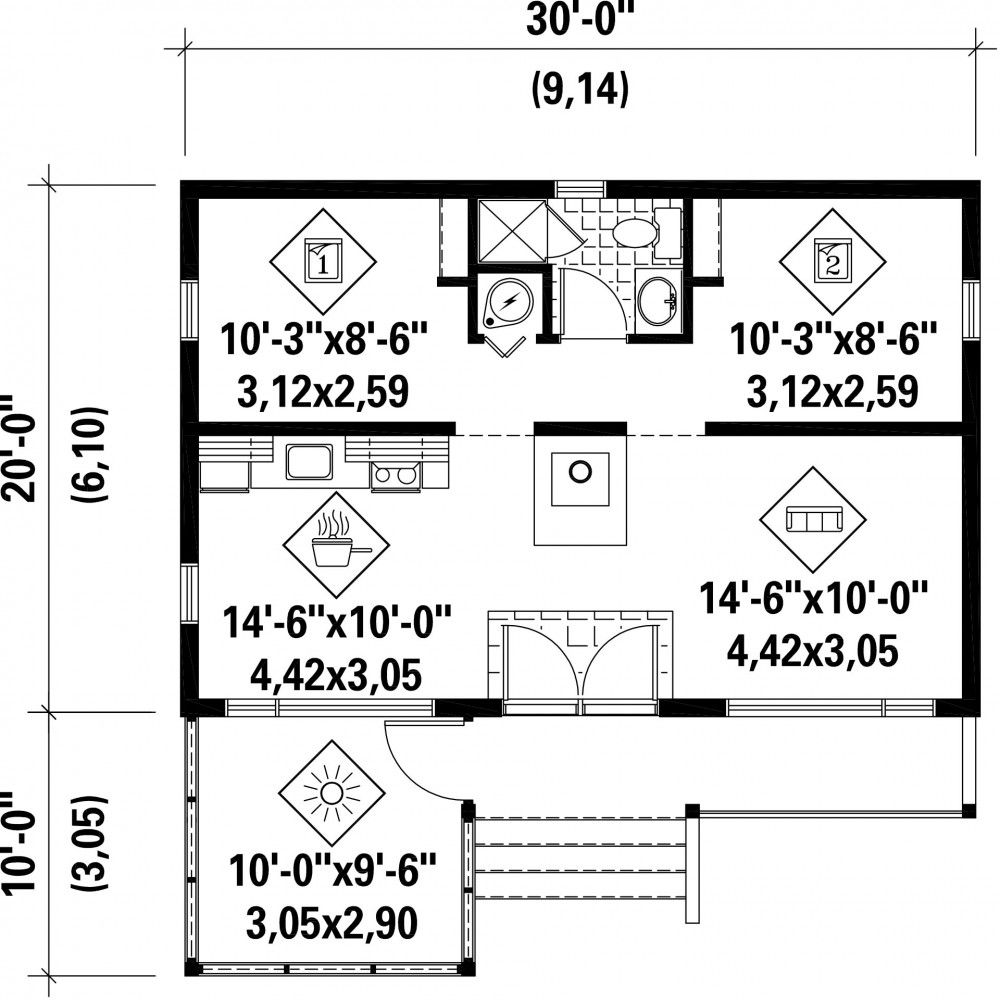 Plan image used when printing | Petit Chalet | Pinterest | Square feet