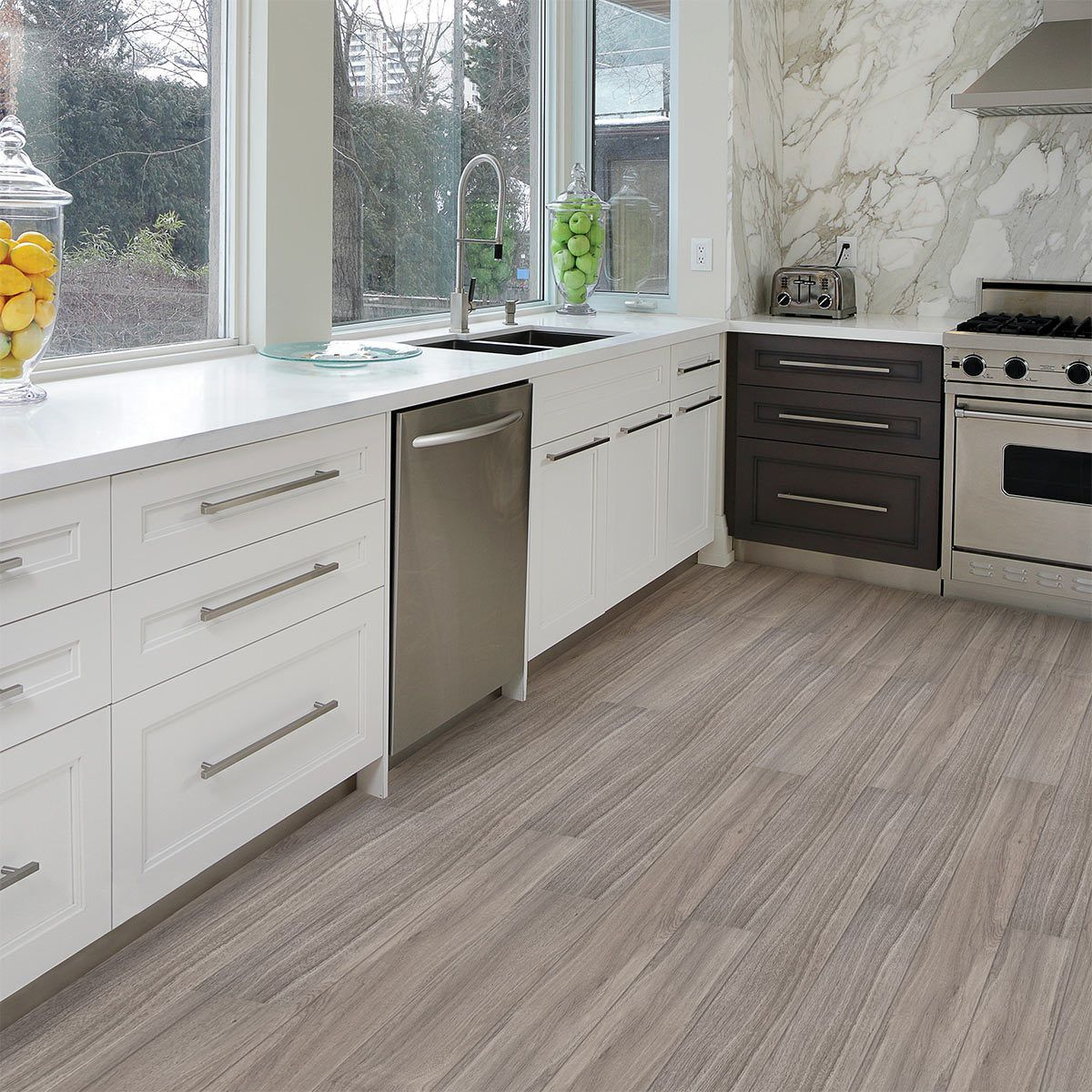 Golden Select Oyster Rigid Core Spc Luxury Vinyl Flooring Planks With Foam Underlay 1 55 M Per Pack Vinyl Flooring Luxury Vinyl Flooring Kitchen Flooring