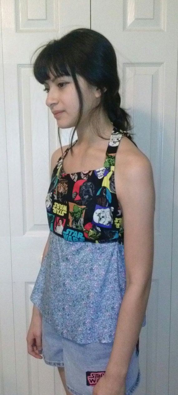New halter top babydoll blouse Star Wars fabric by ElSysDesigns