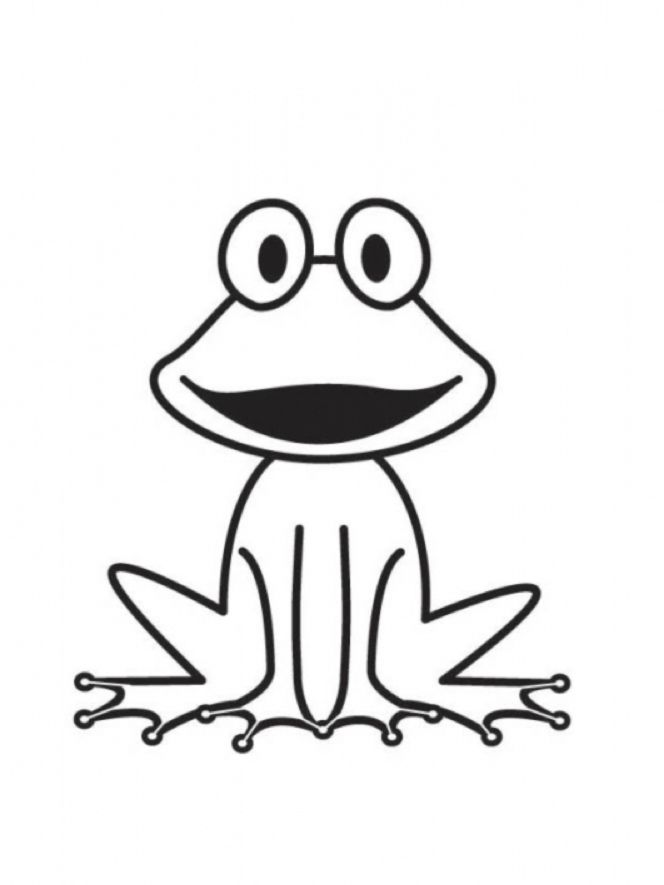 frosch ausmalbild 02 | pattern | Coloring pages, Frog crafts und