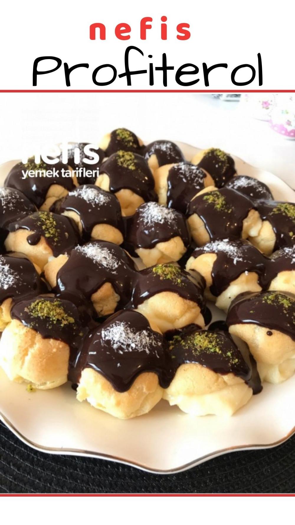 Profiterol Tarifi nasıl yapılır 739 kişinin defterindeki Profiterol Tarifinin resimli anlatımı ve deneyenlerin fotoğrafları burada Yazar Hilal Desserts Profiterol  Nefis...