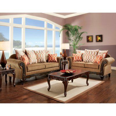 Furniture of America Berberich 2 Piece Sofa Set - IDF-7625-2PC, Durable