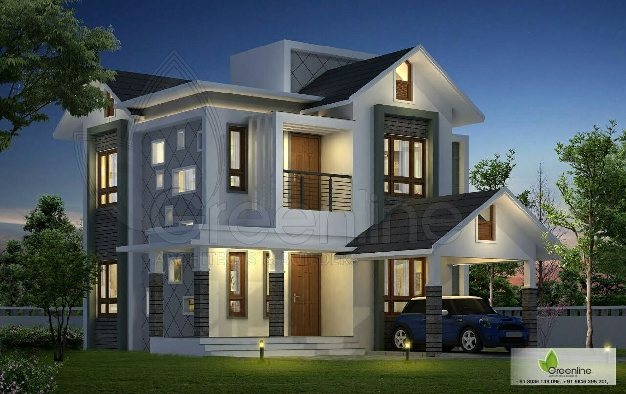 Awesome house with estimated cost of lakhs also kerala home designs rh pinterest