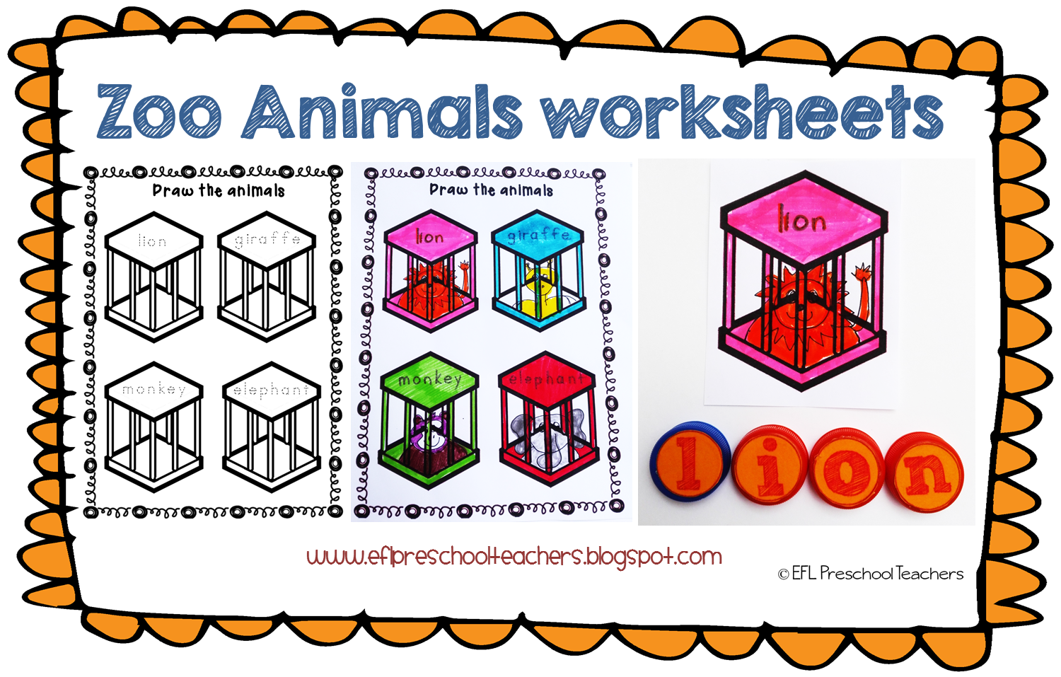 Esl Zoo Animals Unit Worksheets