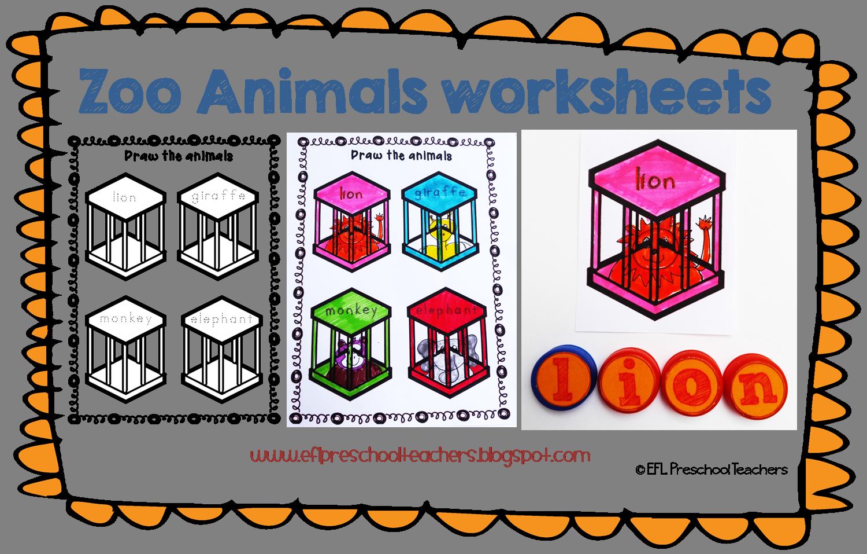 Esl Zoo Animals Unit Worksheets