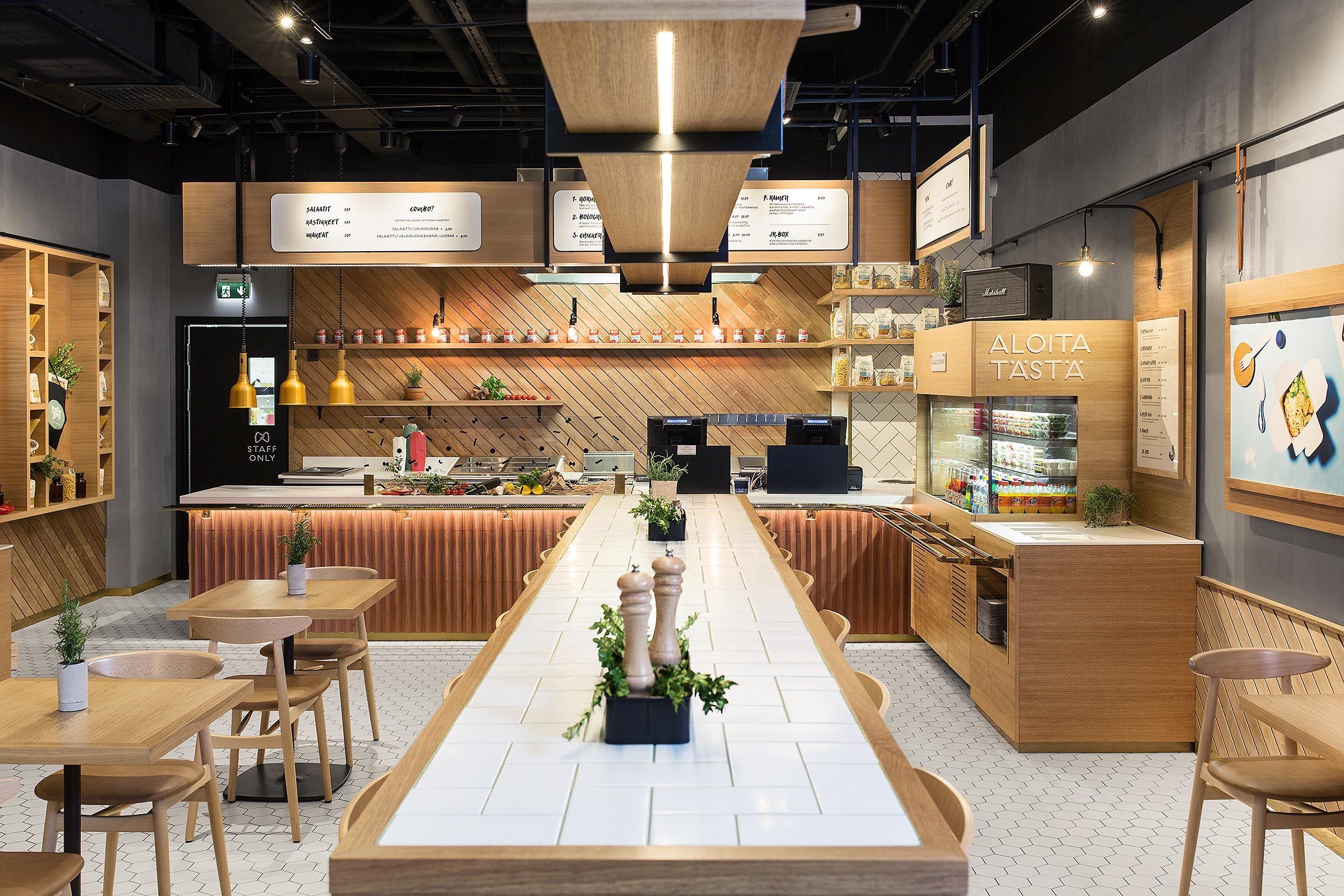 pasta box design kuudes oy interior design identity fast food rh pinterest com interior design small fast food interior design fast food restaurants
