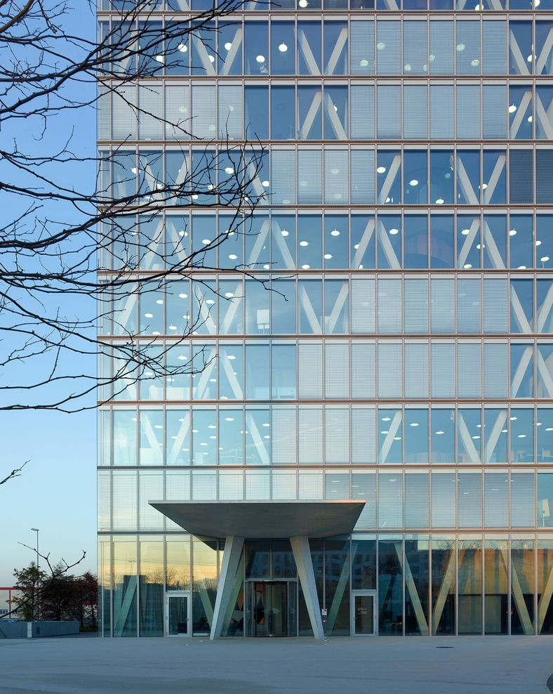 glass facade design office building new office building abr roche competition 1st prize burckhardtpartner ag 2008 2011 rotkreuz switzerland more
